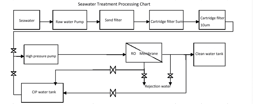 Seawater Treatment Process