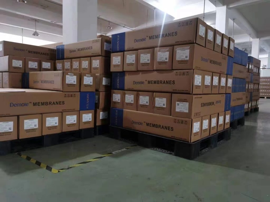 Nanofiltration membrane package